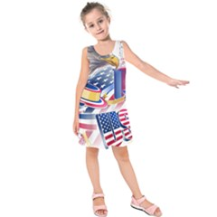 United States Of America Usa  Images Independence Day Kids  Sleeveless Dress