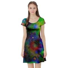 Full Colors Short Sleeve Skater Dress