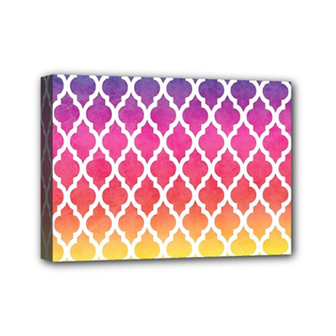Colorful Rainbow Moroccan Pattern Mini Canvas 7  X 5