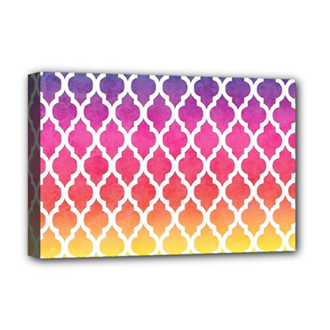 Colorful Rainbow Moroccan Pattern Deluxe Canvas 18  X 12