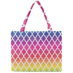 Colorful Rainbow Moroccan Pattern Mini Tote Bag