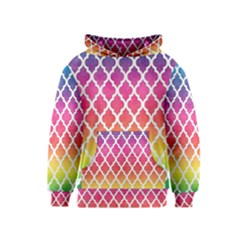 Colorful Rainbow Moroccan Pattern Kids  Pullover Hoodie