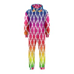 Colorful Rainbow Moroccan Pattern Hooded Jumpsuit (kids)