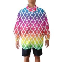 Colorful Rainbow Moroccan Pattern Wind Breaker (kids)