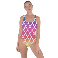 Colorful Rainbow Moroccan Pattern Bring Sexy Back Swimsuit