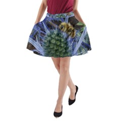 Chihuly Garden Bumble A Line Pocket Skirt