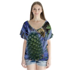 Chihuly Garden Bumble Flutter Sleeve Top
