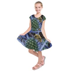 Chihuly Garden Bumble Kids  Short Sleeve Dress