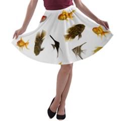Goldfish A Line Skater Skirt