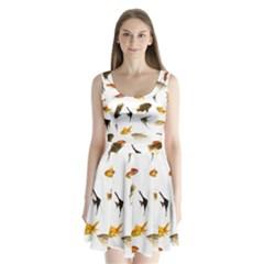 Goldfish Split Back Mini Dress