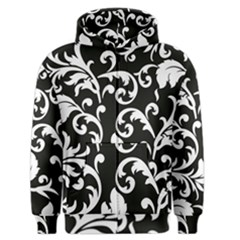 Vector Classicaltr Aditional Black And White Floral Patterns Men s Zipper Hoodie