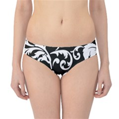 Vector Classicaltr Aditional Black And White Floral Patterns Hipster Bikini Bottoms