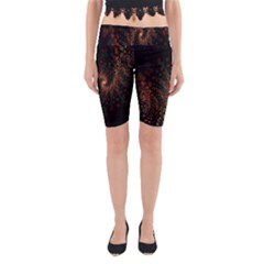 Multicolor Fractals Digital Art Design Yoga Cropped Leggings