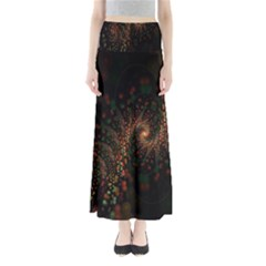 Multicolor Fractals Digital Art Design Full Length Maxi Skirt