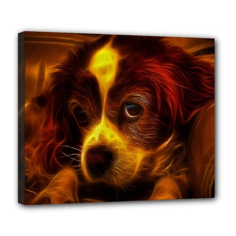 Cute 3d Dog Deluxe Canvas 24  X 20