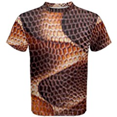 Snake Python Skin Pattern Men s Cotton Tee