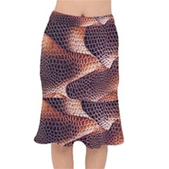 Snake Python Skin Pattern Mermaid Skirt