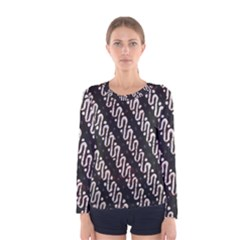 Batik Jarik Parang Women s Long Sleeve Tee