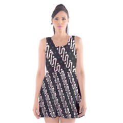 Batik Jarik Parang Scoop Neck Skater Dress