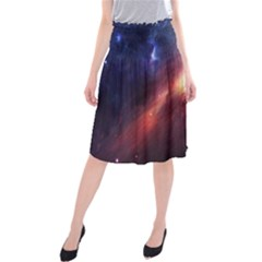 Digital Space Universe Midi Beach Skirt