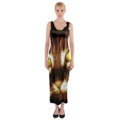 Cat Face Fitted Maxi Dress