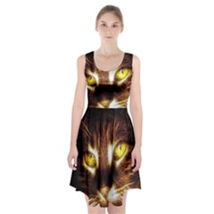 Cat Face Racerback Midi Dress