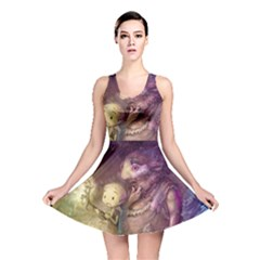 Cartoons Video Games Multicolor Reversible Skater Dress