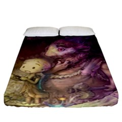Cartoons Video Games Multicolor Fitted Sheet (king Size)