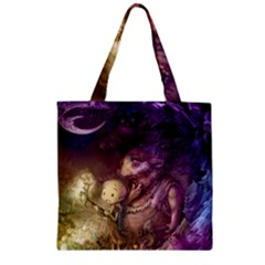 Cartoons Video Games Multicolor Zipper Grocery Tote Bag