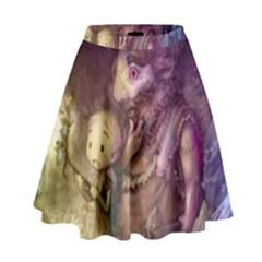 Cartoons Video Games Multicolor High Waist Skirt