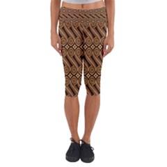 Batik The Traditional Fabric Capri Yoga Leggings