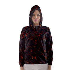 Volcanic Textures Hooded Wind Breaker (women)