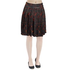 Volcanic Textures Pleated Skirt