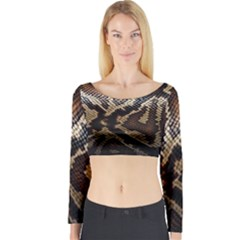 Snake Skin Olay Long Sleeve Crop Top