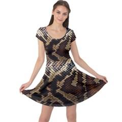Snake Skin Olay Cap Sleeve Dresses