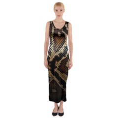 Snake Skin Olay Fitted Maxi Dress