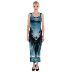 Rising Angel Fantasy Fitted Maxi Dress