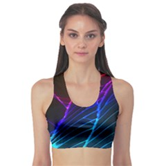 Cracked Out Broken Glass Sports Bra