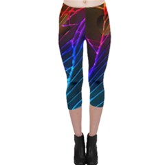 Cracked Out Broken Glass Capri Leggings