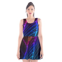 Cracked Out Broken Glass Scoop Neck Skater Dress