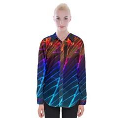 Cracked Out Broken Glass Womens Long Sleeve Shirt