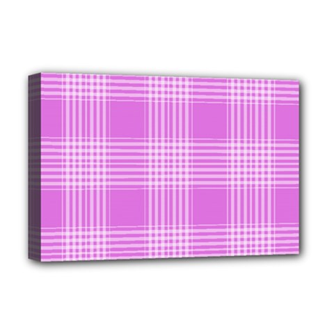 Seamless Tartan Pattern Deluxe Canvas 18  X 12