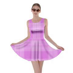 Seamless Tartan Pattern Skater Dress