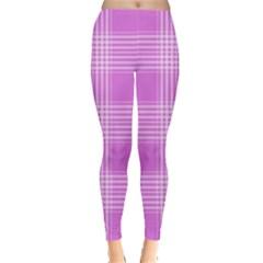 Seamless Tartan Pattern Leggings