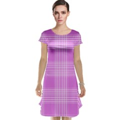 Seamless Tartan Pattern Cap Sleeve Nightdress