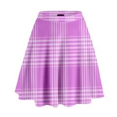 Seamless Tartan Pattern High Waist Skirt