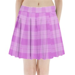Seamless Tartan Pattern Pleated Mini Skirt