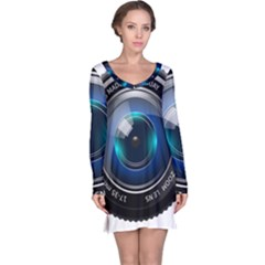 Camera Lens Prime Photography Long Sleeve Nightdress