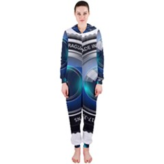 Camera Lens Prime Photography Hooded Jumpsuit (ladies)