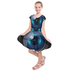 Camera Lens Prime Photography Kids  Short Sleeve Dress